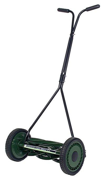 La tondeuse manuelle American Lawn Mower 1705-16 et son cylindre de coupe à 7 lames